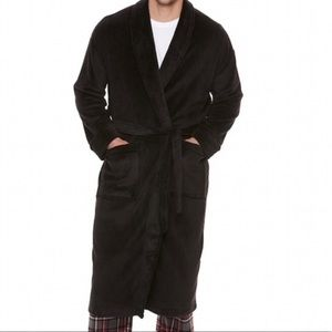 Plush Men's Robe NWT  Black  L / XL